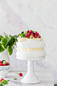 Pavlova with summer fruits