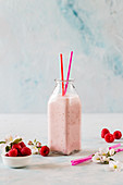 Raspberry and yoghurt smoothie