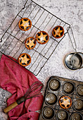 Christmas Mince Pies with Star pastry decorations