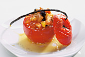 Stuffed dessert tomato with vanilla butter