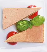 Iced tomato espuma with basil