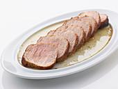 Pork fillet with sea salt and nut butter