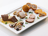 Various types of pork