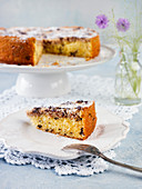 Madeira cake with nuts