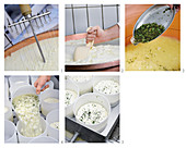 Obermünstertal red smear cheese with meadow herbs being made