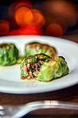 Stuffed savoy cabbage rolls