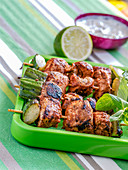 Tandoori chicken and cucumber skewers