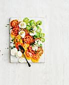 Tomato salad caprese