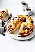Cherry almond bee sting cake
