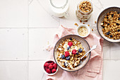 Granola with nuts, oats and berries