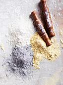 Corn flour in different colours