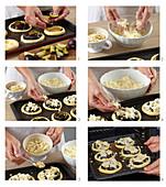Baking plum sourdough cakes