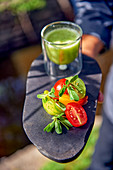 Gazpacho with green tomatoes