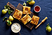 Dartois with pears - french puff pastry tart with fruits and frangipane