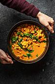 Cauliflower and sweet potatoe soup