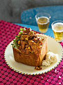 Lamb curry Bunnychow