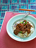Chicken livers and mieliepap
