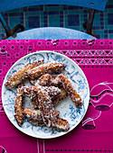 South-African Koesister (sweet spicy doughnut)