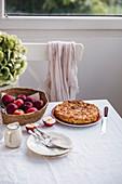 Hausgemachter Apfelkuchen