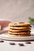 Chocolate Drop Cookies, gestapelt