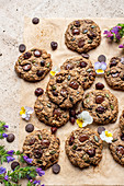 Cookies with cranberries and pumpkin seeds