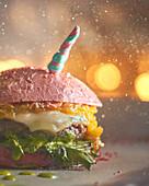 A unicorn burger