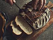 Yoghurt bread made in a Dutch oven