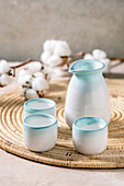 Traditional japanese Sake ceramic set
