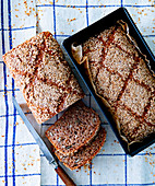 Wholemeal bread with sesame seeds