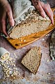 Homemade oatmeal bread