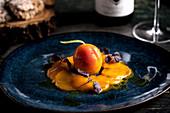 Apricot carpaccio