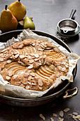 Gluten free Vegan Pear Almond Cake