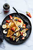 French toast with fresh fruits