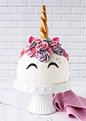 Unicorn dome cake