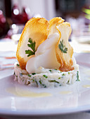 Stockfish with crisps