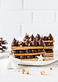 Mille Feuille with chocolate cream