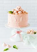 Peach and coriander cake