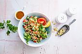 Parsley-millet salad