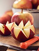 Decorative cut apple