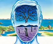 Depression, conceptual illustration