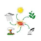 Renewable energy, illustration