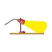 Lamp, illustration