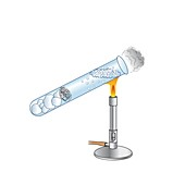 Thermal conduction in water, illustration