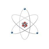 Lithium atom, illustration