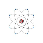 Oxygen atom, illustration