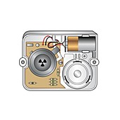 Smoke alarm, illustration