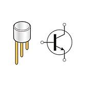 NPN bipolar junction transistor, illustration