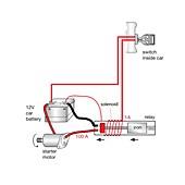 Electromagnetic relay, diagram
