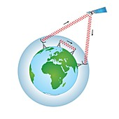 Satellite communications, illustration
