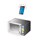 Microwave radiation, illustration
